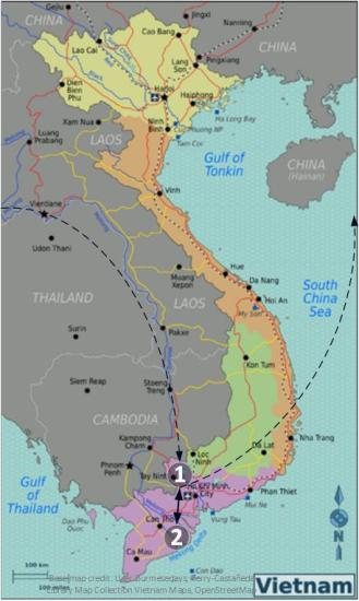vietnam-route-map