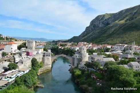 mehmed pasha bridge view mostar