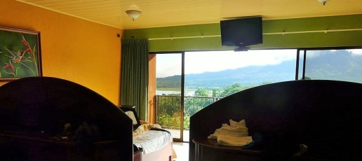 Inside the Room with Volcano VIew